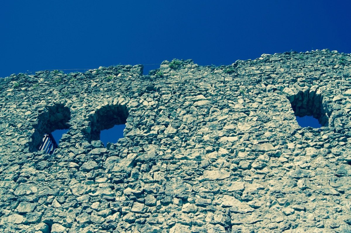 Foto of an old castle wall to protect against DDoS attacks