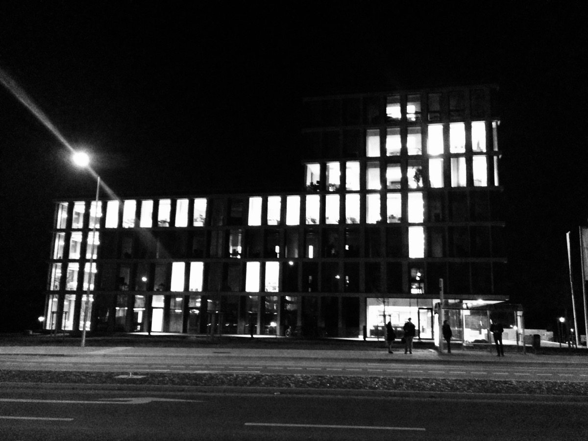 Foto Lichtkunst TechBase Regensburg
